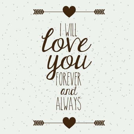 carta de amor: dise�o de amor sobre el patr�n de fondo ilustraci�n vectorial