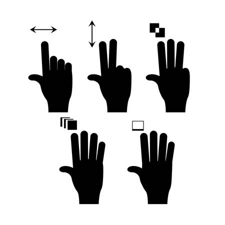 hands gesture over white  background vector illustration Vector