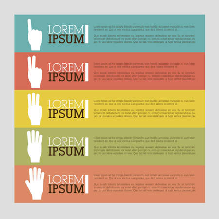 hands gesture over colorful background vector illustration Vector