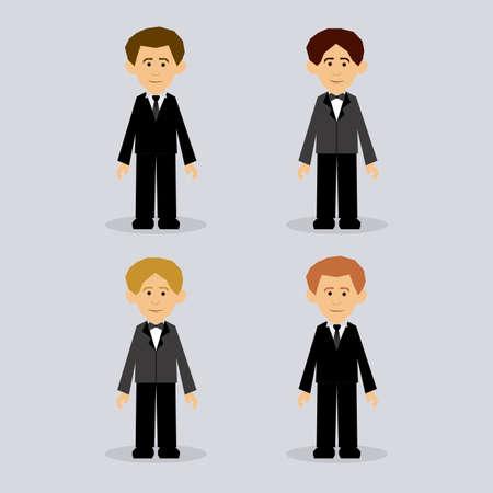 flushed: man design over gray  background vector illustration