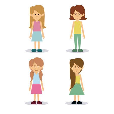 felicity: woman  design over white background vector illustration Illustration