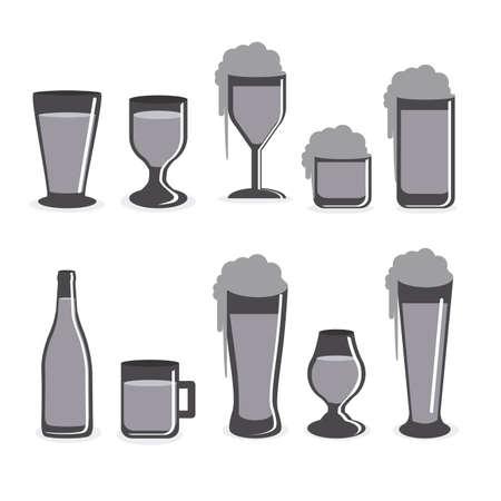 beers: Beers design over white background vector illustration Illustration