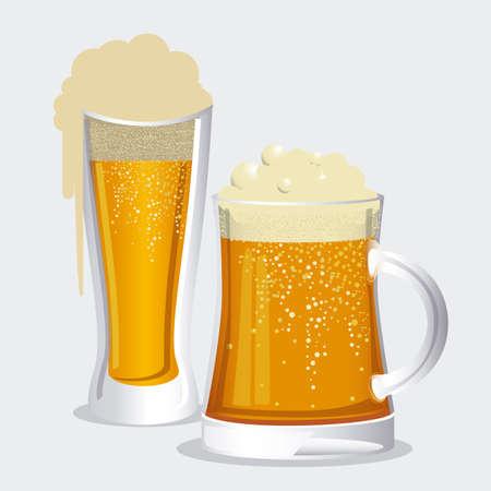Beer design over white background vector illustration  Vector