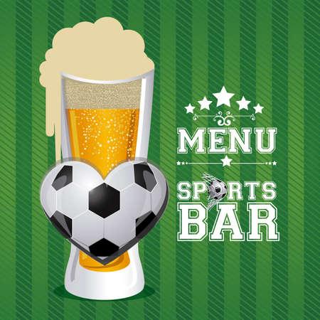 bar design over green  background vector illustration Vector