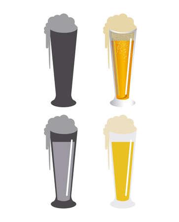 beers: beers design over white background vector illustration