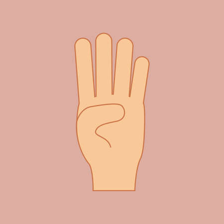 nonverbal: hands gesture over pink background vector illustration Illustration