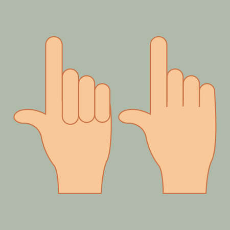 hands gesture over gray background vector illustration Vector