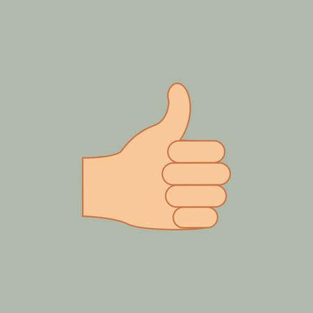nonverbal: hands gesture over gray  background vector illustration Illustration