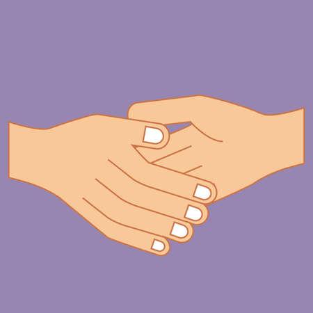 hands gesture over purple background vector illustration Vector Illustration