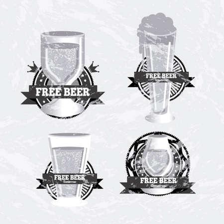 beers: beers design over gray background vector illustration