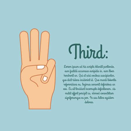 nonverbal: hands gesture over blue  background vector illustration