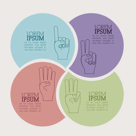 hands gesture over beige  background vector illustration Vector