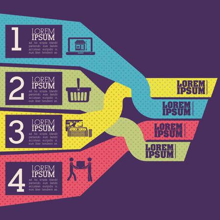 determinants: infographics design over purple    background vector illustration