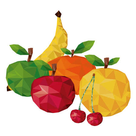 la nourriture saine sur fond blanc illustration vectorielle Vecteurs