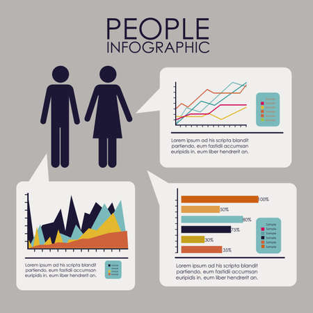 plains: infographics design over gray  background vector illustration  Illustration