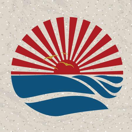 oceans: summer design over pattern  background vector illustration