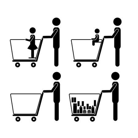 labor market: human activities over white background vector illustration