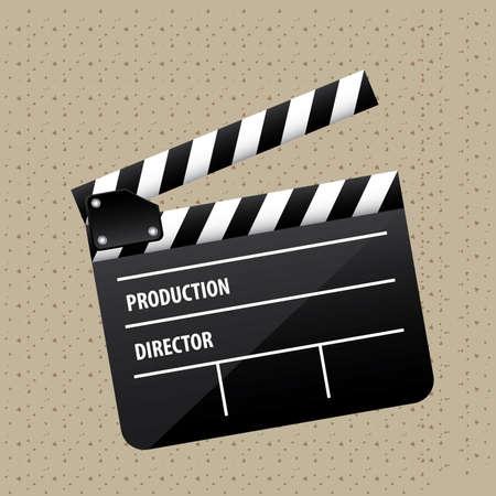 cinematograph: sala de cine sobre fondo punteado ilustraci�n vectorial