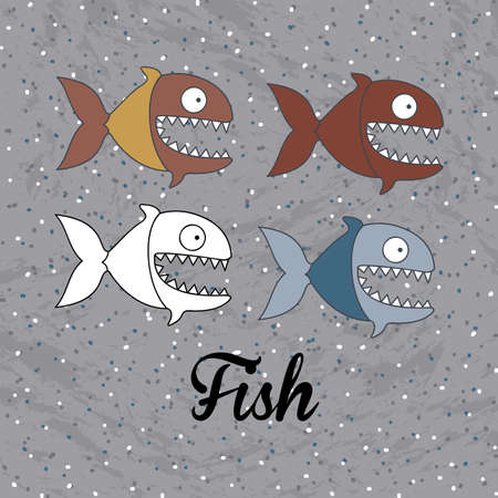 fish design over dotted background vector illustration Vector