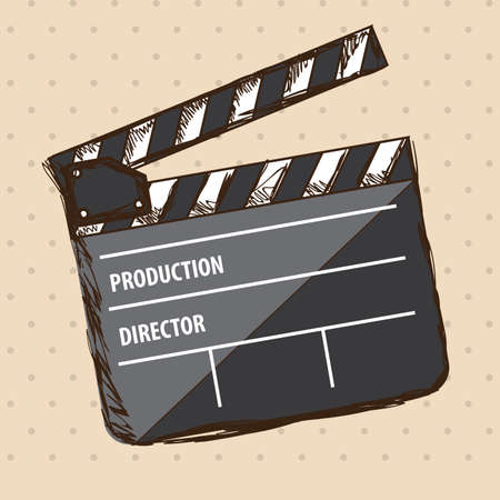 movie theater over dotted background vector illustration Vector