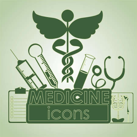 medical dsign over green background vector illustration   Vector