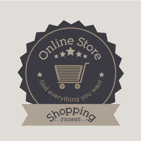 shopping  design over gray  background. vector illustration Vector