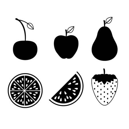 fruits design  over white  background vector illustration Vector