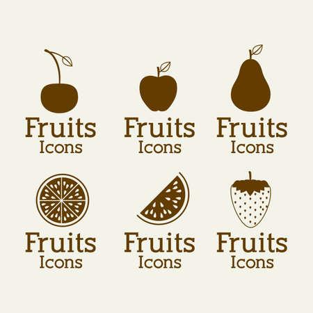 fruits design  over white background vector illustration Vector