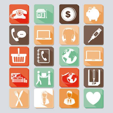 l'icône d'affaires sur fond gris illustration vectorielle