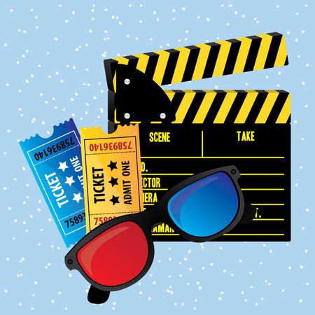 movie theater: movie theater over blue background vector illustration Illustration