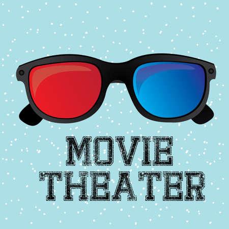cinematograph: sala de cine sobre fondo azul ilustraci�n vectorial Vectores