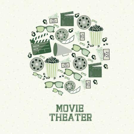 cinematograph: sala de cine sobre fondo blanco ilustraci�n vectorial
