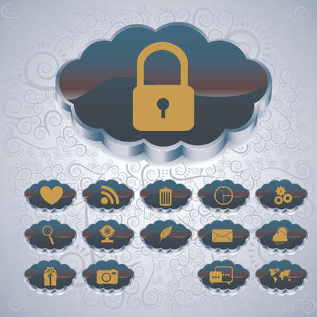 new account: cloud computing over blue background vector illustration Illustration