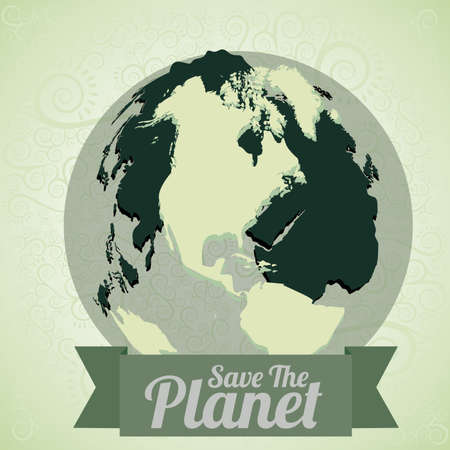 eco design over green background vector illustration  Vector