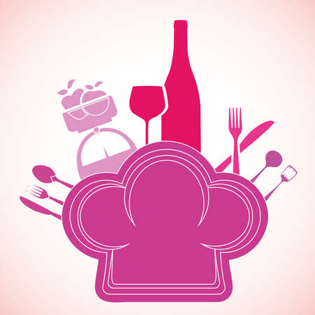 menu design over pink background vector illustration    Vector