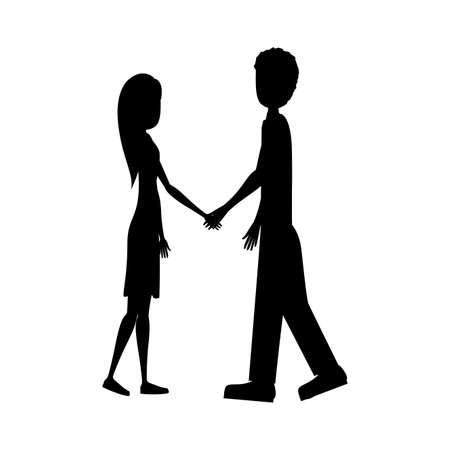 human design over white  background vector illustration Illustration