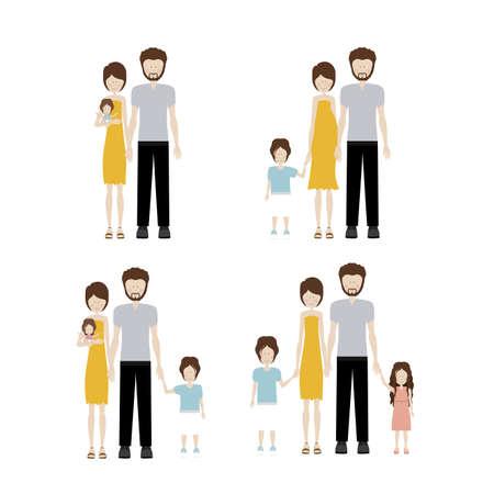 human design over white background vector illustration Vector