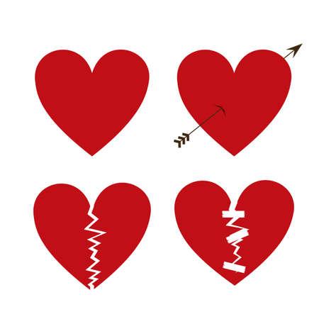 diseño del amor sobre el fondo blanco ilustración vectorial
