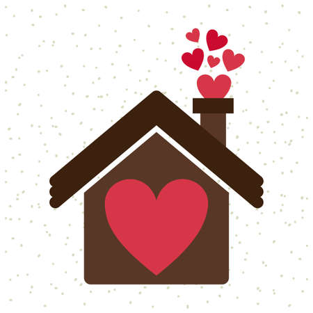 liefde ontwerp op een witte achtergrond vector illustratie Stock Illustratie