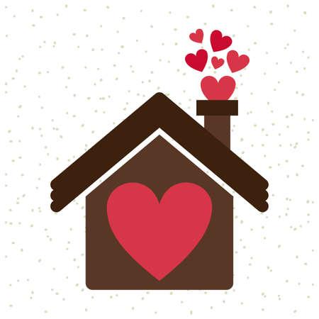 my home: love design over white  background vector illustration   Illustration