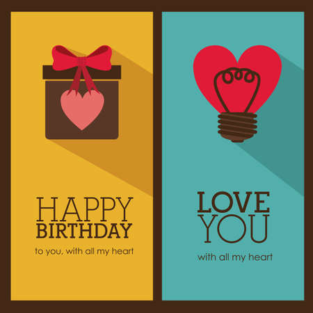 small group of object: birthday  design over brown backgrund vector illustration  Illustration