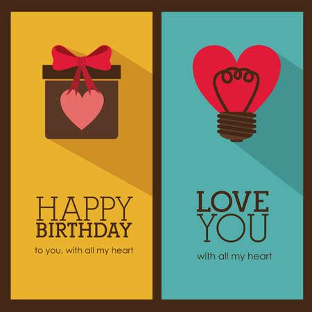 backgrund: birthday  design over brown backgrund vector illustration  Illustration
