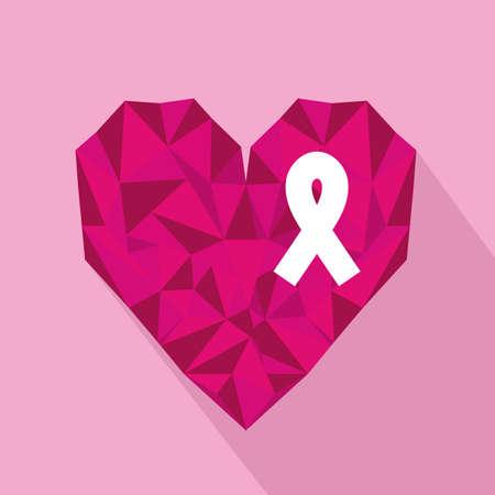 ribbon pink over pink background vector illustration