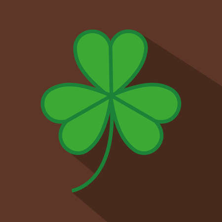 three leaf clover: elf design over brown  background vector illustration Illustration