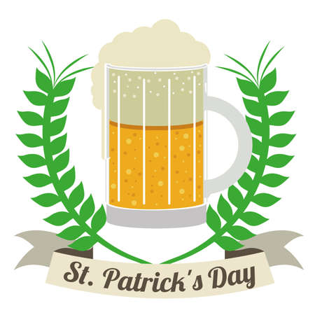 st patrick day over white  background vector illustration Vector