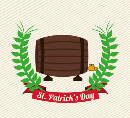 st patrick day over lineal background vector illustration Vector