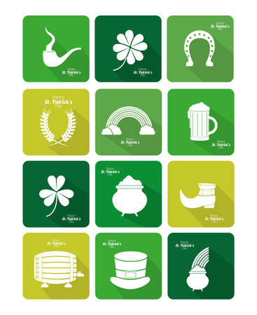 st patrick day design over white  background vector illustration Vector