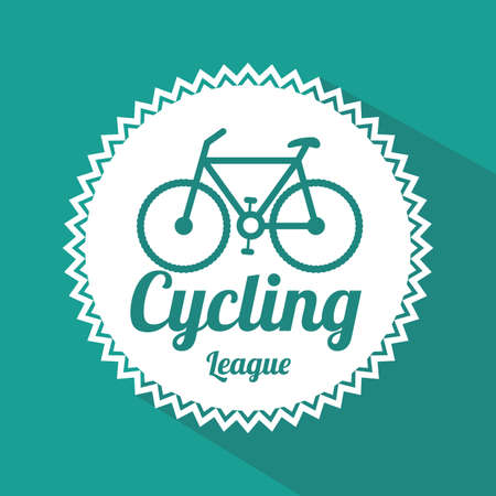 bicycle design over blue background vector illustration