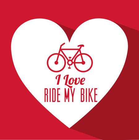 bicycle design over red   background vector illustration   Vector
