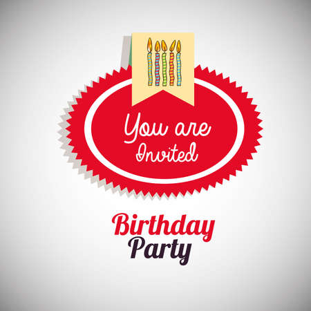 birthday  design over  gray  backgrund vector illustration
